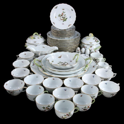 """Herend """"Rothschild Bird"""" Porcelain Dinnerware and Table Accessories"""