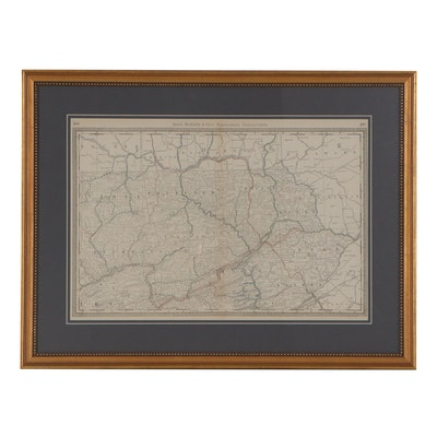 Rand, McNally & Co.'s Railroad Map of Northeastern Pennsylvania, circa 1879