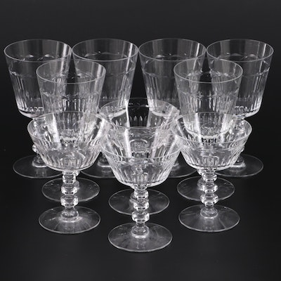 Vine Motif Wine Glasses and Champagne Coupes