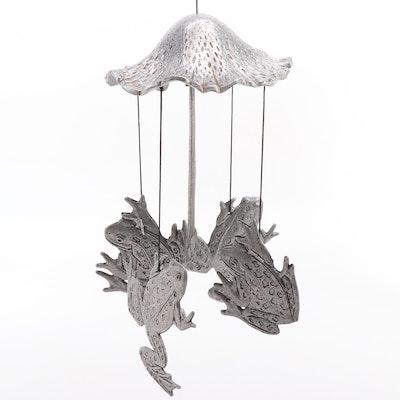 Frog and Woodland Mushroom Cast Aluminium Mobile