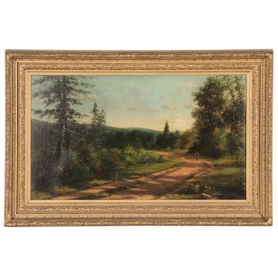Kate Clotworthy Landscape Oil Painting, 1884