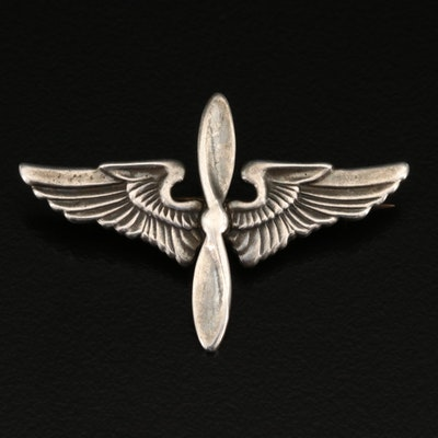 WWII Army Air Corp Sterling Pin