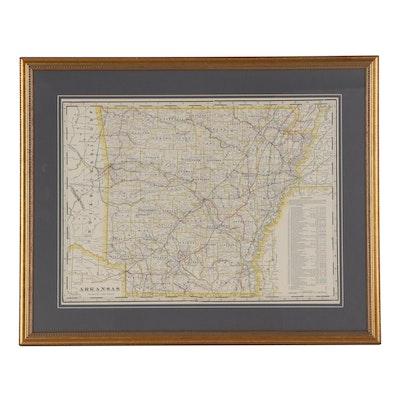 George F. Cram Railroad Map of Arkansas, circa 1905