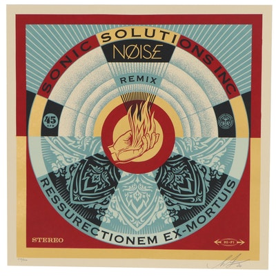 "Shepard Fairey Serigraph ""NØISE/SSI Resurrectionem Ex-Mortuis Remix"""