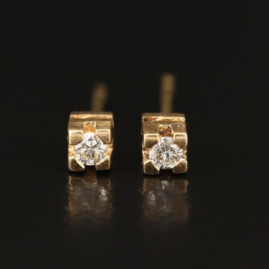 18K 0.10 CTW Diamond Stud Earrings