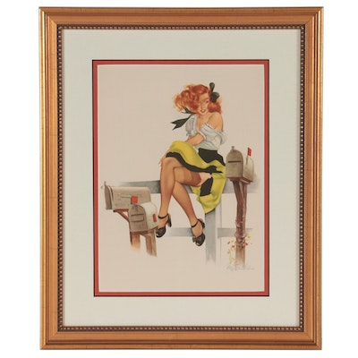 Esquire Glamour Gallery Offset Lithograph Calendar Pinup after Fritz Willis