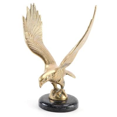 Cast Brass Eagle on Black Marble Base