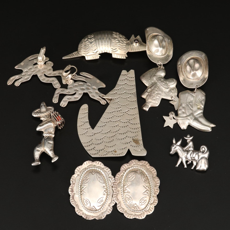 Southwestern and Mexican Sterling Jewelry Collection