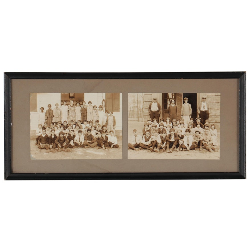 Silver Gelatin Photographs of School Groups, Early 20th Century