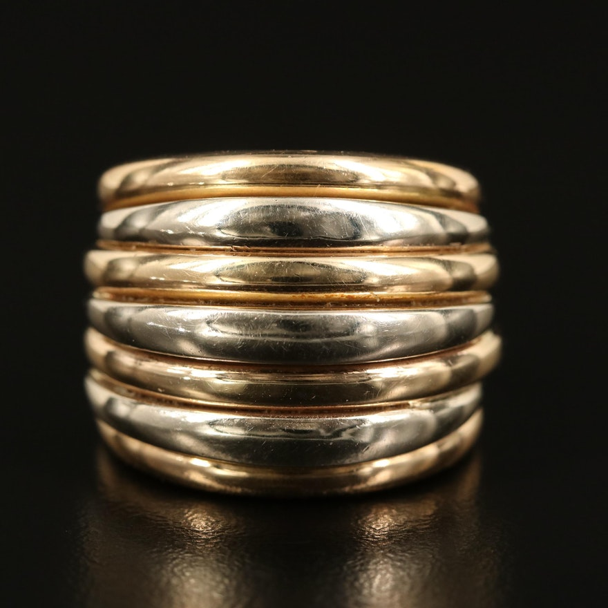 14K Two-Tone Gold Multi-Row Band