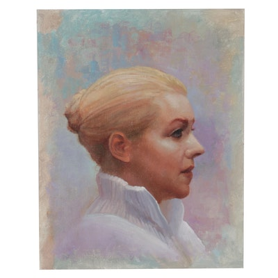"Bruce Erikson Oil Painting ""Courtney Dunn's Warm Ups,"" 2016"