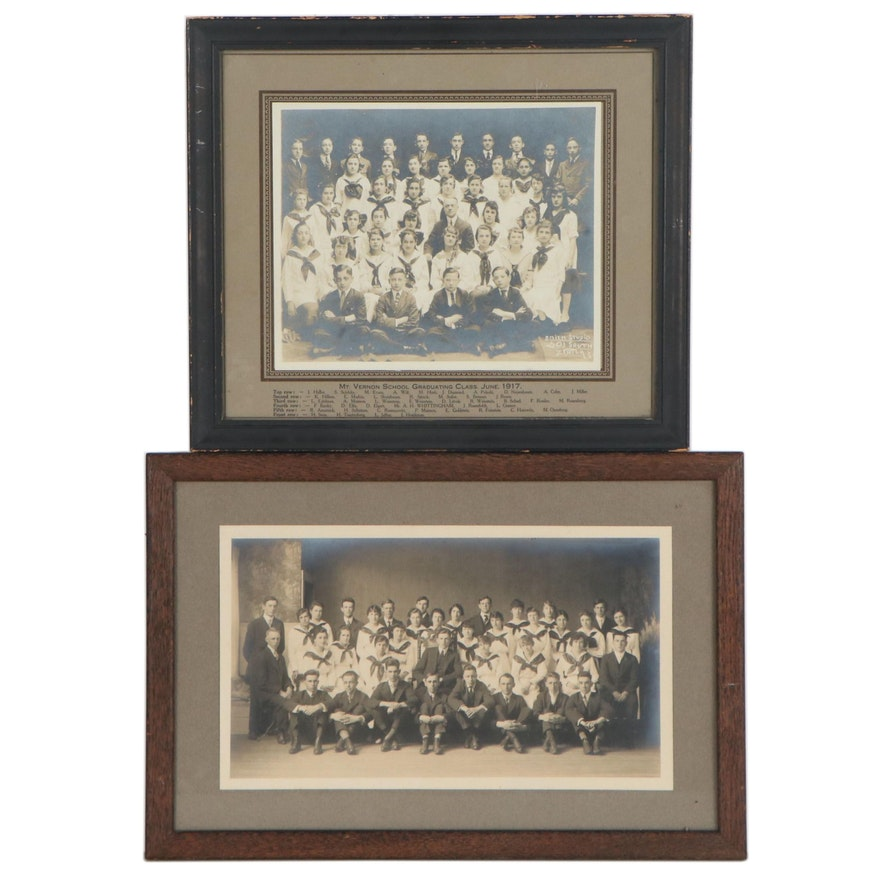 Silver Gelatin Photographs of High School Class Portraits, Early 20th Century