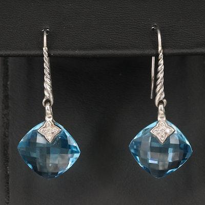 David Yurman Topaz and Diamond Earrings