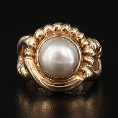 14K Mabé Pearl Ring