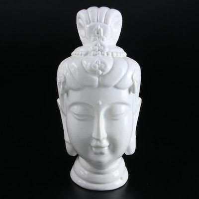 Faircloth Ceramic Buddha Head Bust