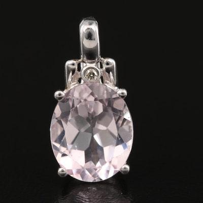 14K Topaz and Diamond Pendant