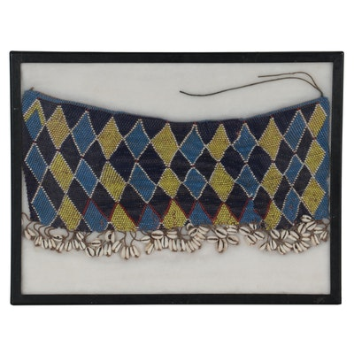 Kirdi Beaded Cache-Sexe with Cowrie Shells, Cameroon