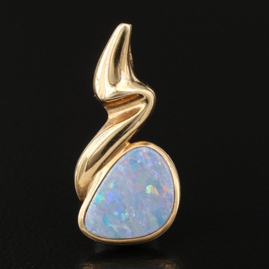 14K Opal Doublet Pendant