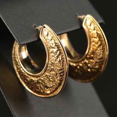 18K Hoop Earrings