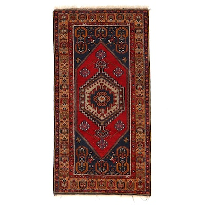 3'6 x 7'1 Hand-Knotted Turkish Yahyalı Area Rug