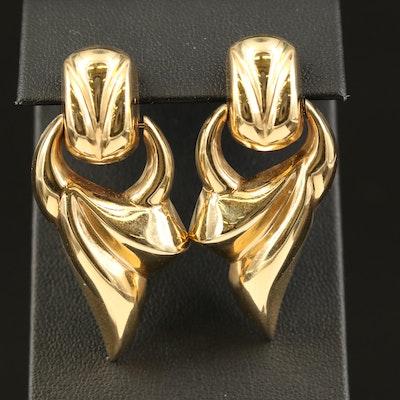 14K Door Knocker Earrings