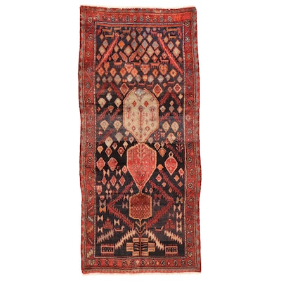 3'8 x 8'9 Hand-Knotted Persian Gabbeh Area Rug