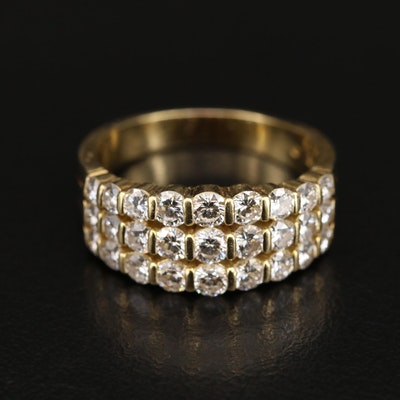 18K 2.00 CTW Diamond Multi-Row Ring