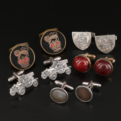 Vintage Cufflinks Featuring Fenwick & Sailors with Gladys and Arthur Michaud