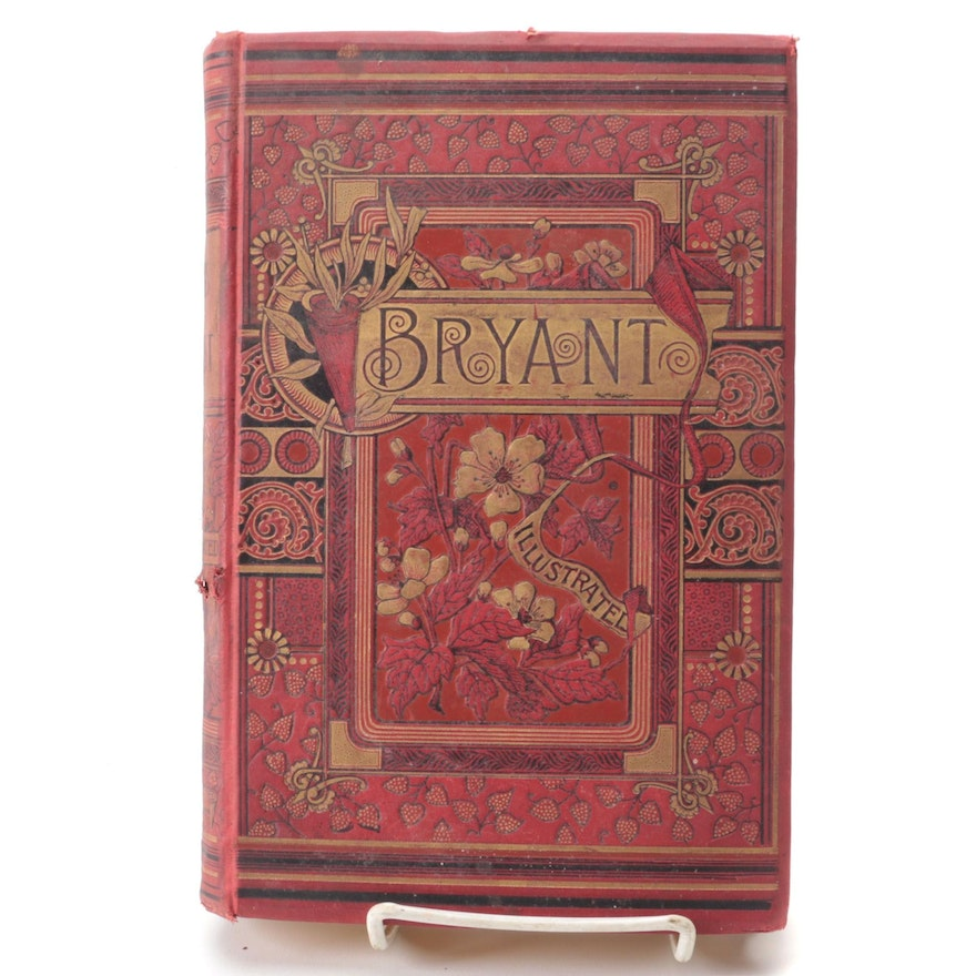 """Illustrated """"Poems"""" by William Cullen Bryant, 1892"""