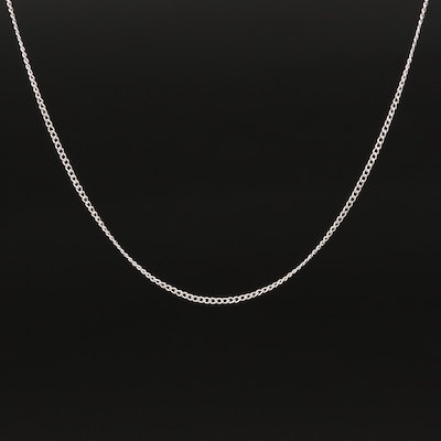 14K Curb Chain Necklace with Extender