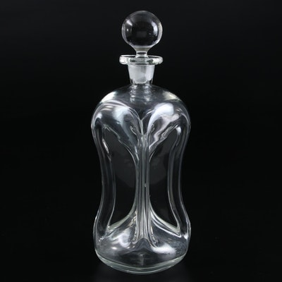 Glass Cluck-Cluck Decanter, Late 19th to Early 20th Century