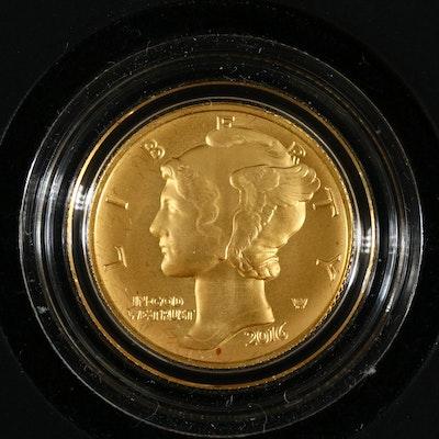 2016-W Mercury Dime Centennial Gold Coin