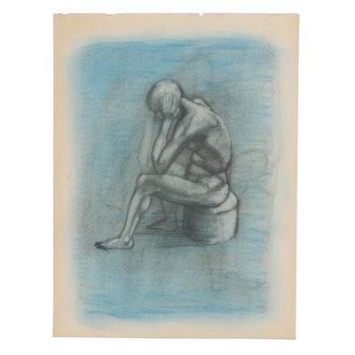 Robert Szesko Pastel and Charcoal Figure Drawing