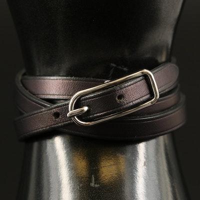 Hermès Leather Quadruple Wrap Bracelet