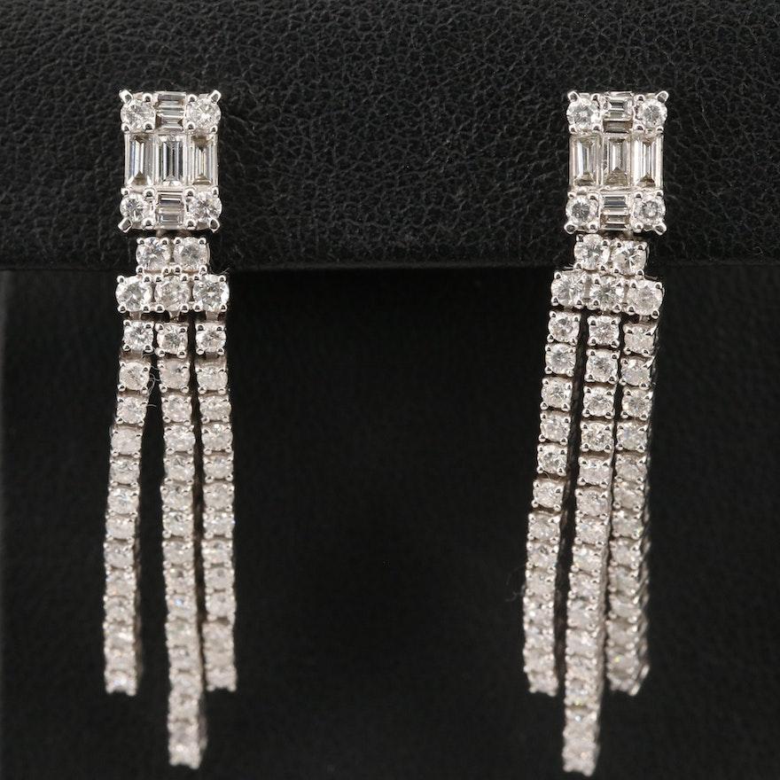 14K 2.72 CTW Diamond Tassel Earrings