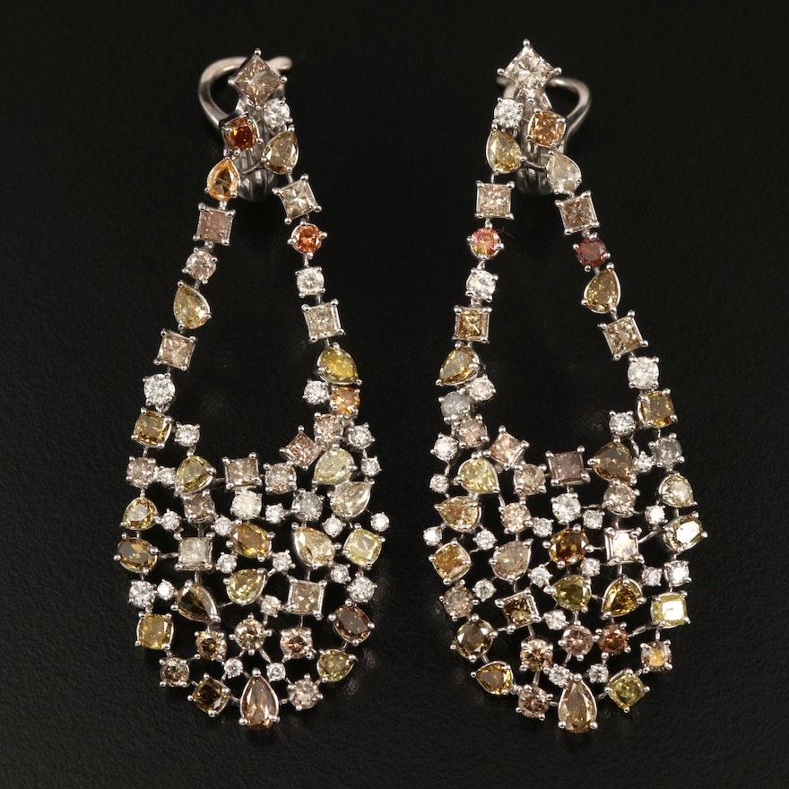14K 13.73 CTW Diamond Drop Earrings