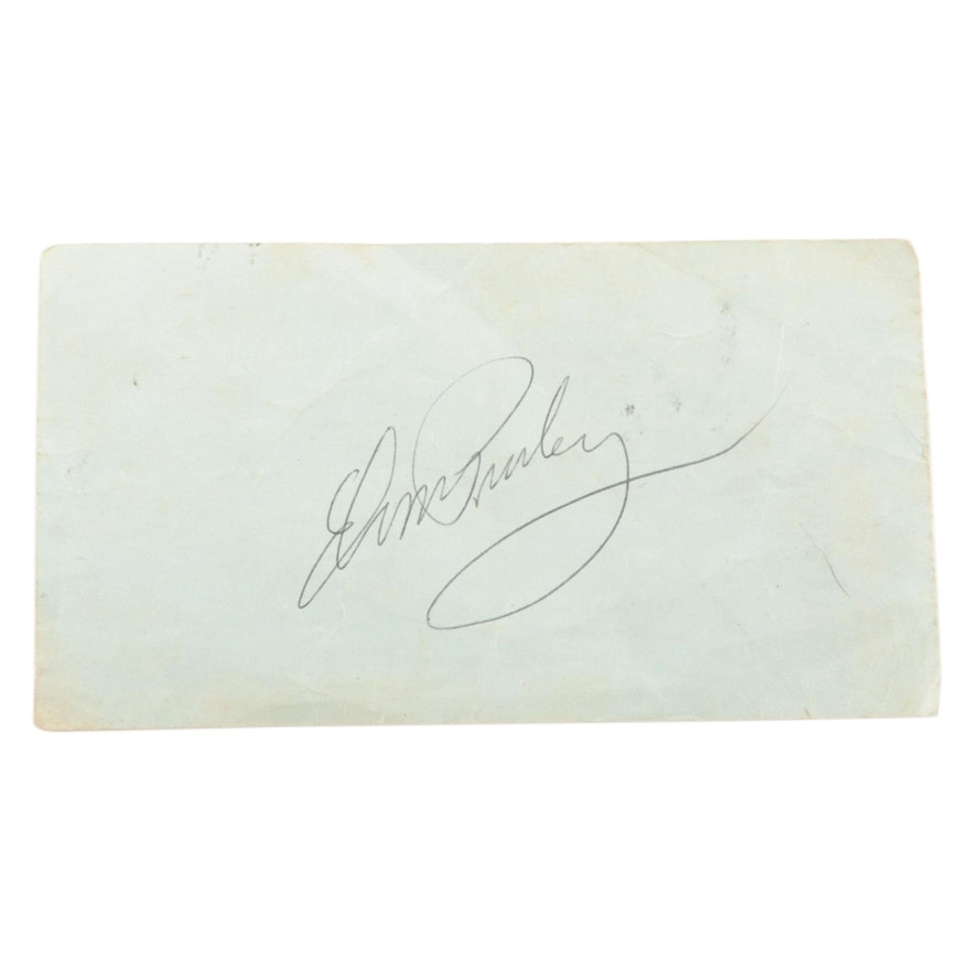 Elvis Presley Signed American Airlines Boarding Pass, Visual COA