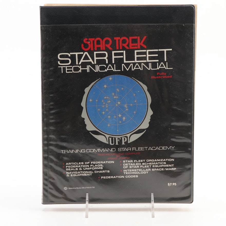 """First Edition """"Star Fleet Technical Manual"""" Compiled by Franz Joseph, 1975"""