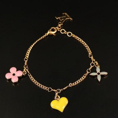 Louis Vuitton Multi-Color Monogram Sweet Charm Bracelet