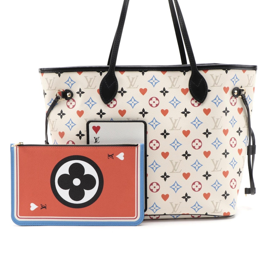 Louis Vuitton Game On Neverfull MM in Autres Toile Monogram with Pochette