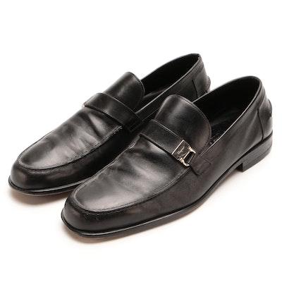 Men's Salvatore Ferragamo Studio Black Leather Loafers