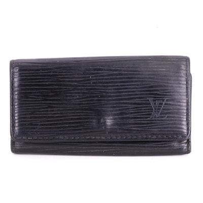 Louis Vuitton Four-Key Case in Black Epi Leather