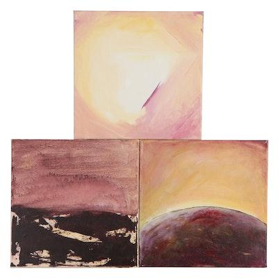 Angela McElwain Abstract Acrylic Paintings