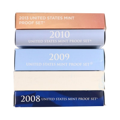 Five Different U.S. Mint Proof Sets