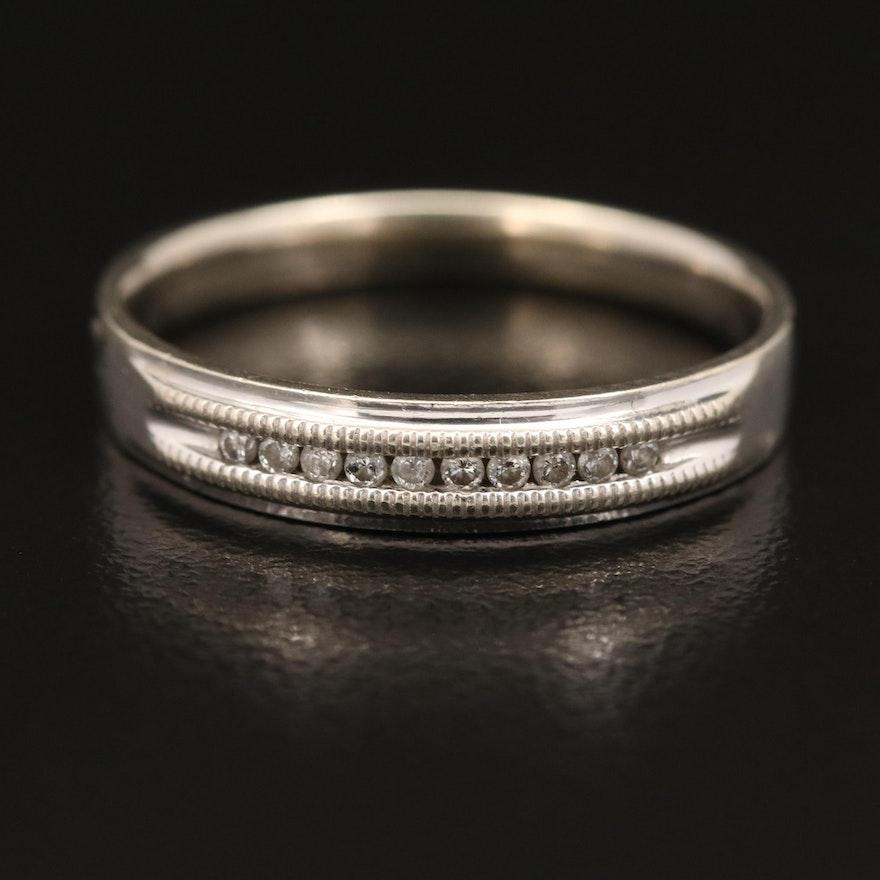 10K Diamond Band with Milgrain Detail