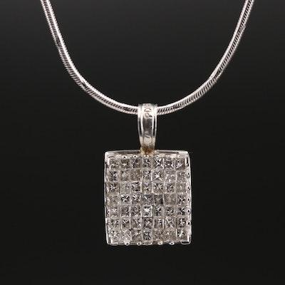 Italian 14K Diamond Necklace