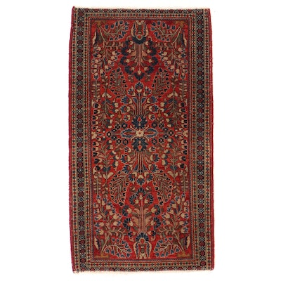 2'1 x 3'9 Hand-Knotted Persian Sarouk Accent Rug