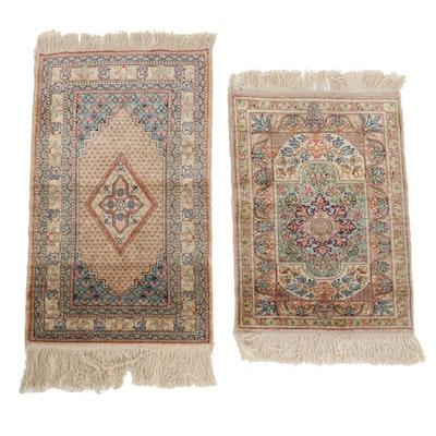 Hand-Knotted Indian Silk Blend Floor Mats