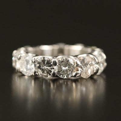 Platinum 7.25 CTW Diamond Eternity Band