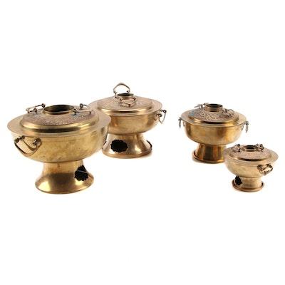 Korean Zodiac Brass Hot Pot Steamers